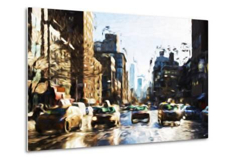 Four Taxis - In the Style of Oil Painting-Philippe Hugonnard-Metal Print
