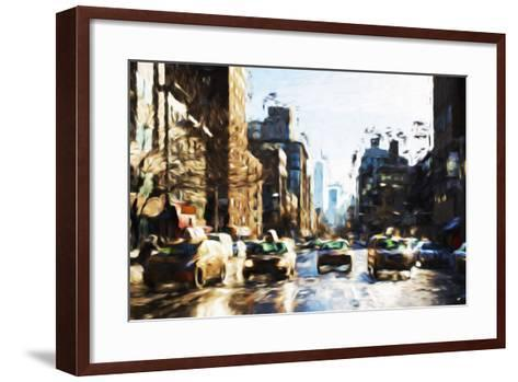 Four Taxis - In the Style of Oil Painting-Philippe Hugonnard-Framed Art Print