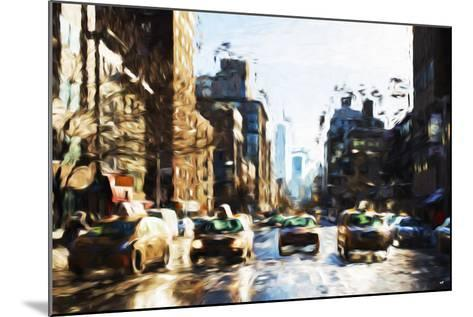Four Taxis - In the Style of Oil Painting-Philippe Hugonnard-Mounted Giclee Print