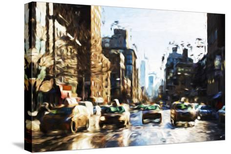 Four Taxis - In the Style of Oil Painting-Philippe Hugonnard-Stretched Canvas Print