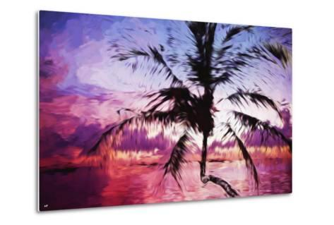 Tropical Sunset II - In the Style of Oil Painting-Philippe Hugonnard-Metal Print