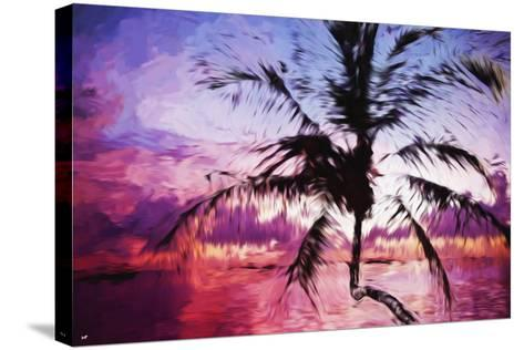 Tropical Sunset II - In the Style of Oil Painting-Philippe Hugonnard-Stretched Canvas Print