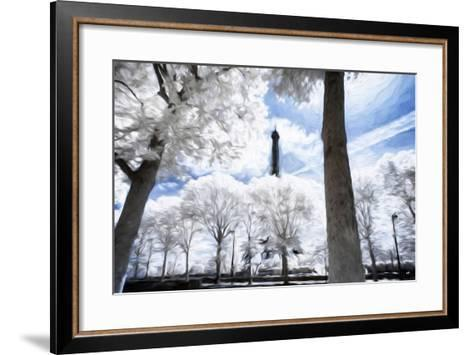 Paris in Winter - In the Style of Oil Painting-Philippe Hugonnard-Framed Art Print