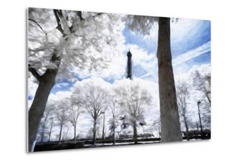 Paris in Winter - In the Style of Oil Painting-Philippe Hugonnard-Metal Print