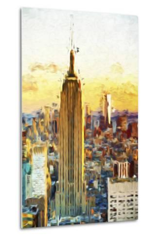 Empire State Sunset III - In the Style of Oil Painting-Philippe Hugonnard-Metal Print