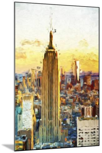 Empire State Sunset III - In the Style of Oil Painting-Philippe Hugonnard-Mounted Giclee Print