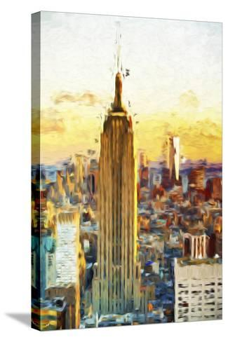 Empire State Sunset III - In the Style of Oil Painting-Philippe Hugonnard-Stretched Canvas Print