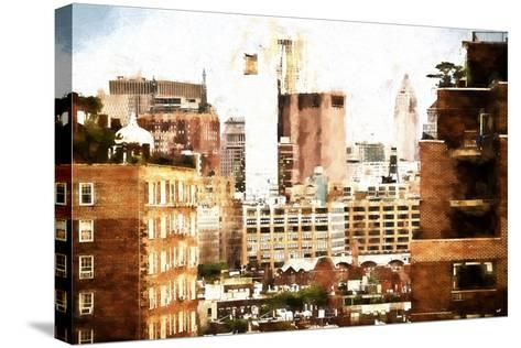 Midtown New York-Philippe Hugonnard-Stretched Canvas Print