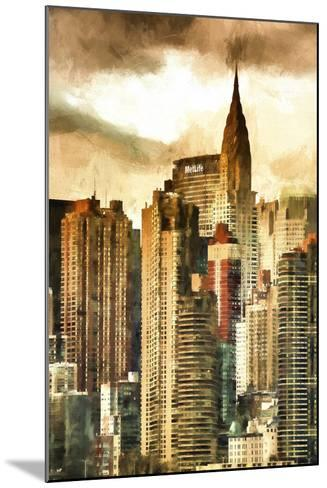 New York Skyscrapers II-Philippe Hugonnard-Mounted Giclee Print