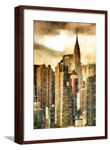 New York Skyscrapers II-Philippe Hugonnard-Framed Art Print