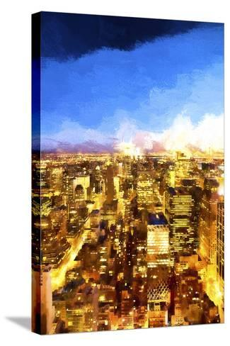 New York City Lights II-Philippe Hugonnard-Stretched Canvas Print