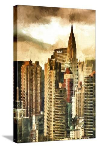 New York Skyscrapers II-Philippe Hugonnard-Stretched Canvas Print