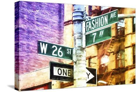 Fashion Avenue Signs-Philippe Hugonnard-Stretched Canvas Print