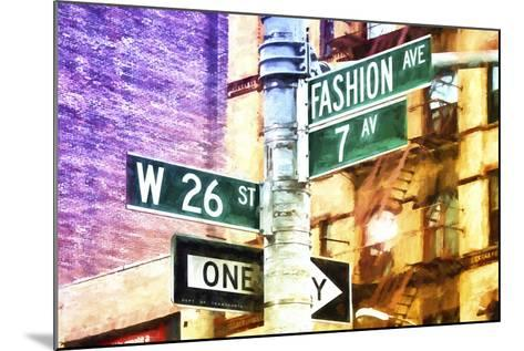 Fashion Avenue Signs-Philippe Hugonnard-Mounted Giclee Print