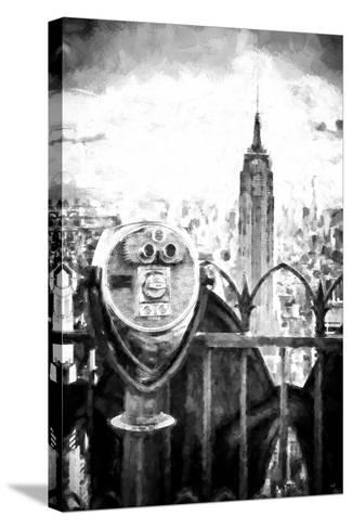 View of the Empire State Building-Philippe Hugonnard-Stretched Canvas Print