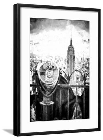View of the Empire State Building-Philippe Hugonnard-Framed Art Print