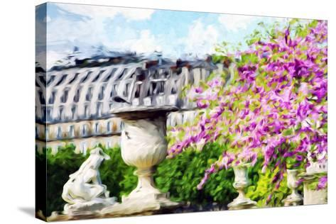 Paris Flowers I - In the Style of Oil Painting-Philippe Hugonnard-Stretched Canvas Print