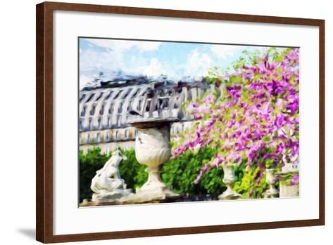 Paris Flowers I - In the Style of Oil Painting-Philippe Hugonnard-Framed Art Print