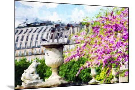 Paris Flowers I - In the Style of Oil Painting-Philippe Hugonnard-Mounted Giclee Print