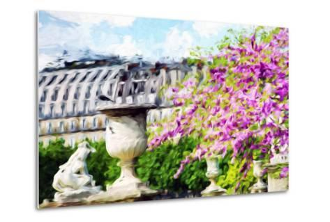 Paris Flowers I - In the Style of Oil Painting-Philippe Hugonnard-Metal Print