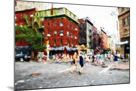 Street Scene III - In the Style of Oil Painting-Philippe Hugonnard-Mounted Giclee Print