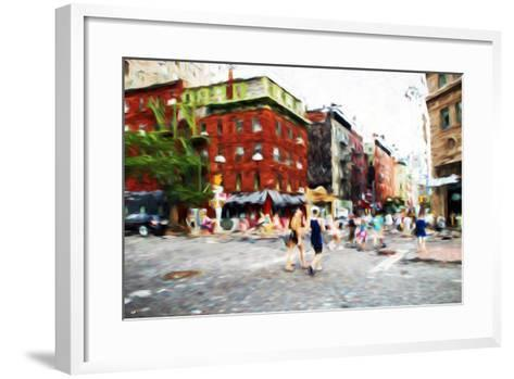 Street Scene III - In the Style of Oil Painting-Philippe Hugonnard-Framed Art Print