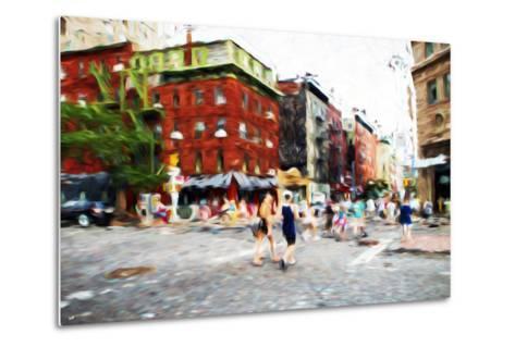 Street Scene III - In the Style of Oil Painting-Philippe Hugonnard-Metal Print