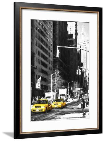 Two NYC Taxis-Philippe Hugonnard-Framed Art Print