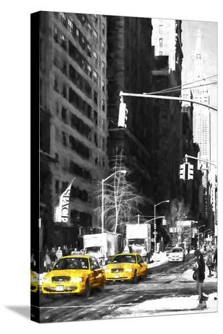 Two NYC Taxis-Philippe Hugonnard-Stretched Canvas Print
