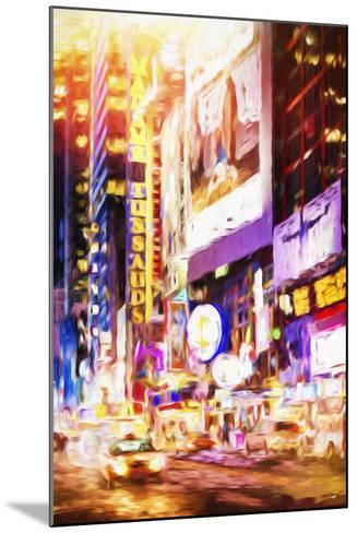 Manhattan Night - In the Style of Oil Painting-Philippe Hugonnard-Mounted Giclee Print