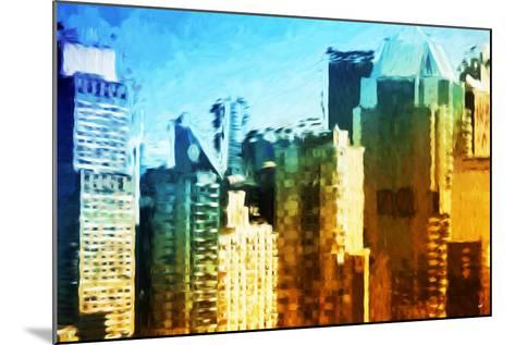 Skyscrapers Collection IV - In the Style of Oil Painting-Philippe Hugonnard-Mounted Giclee Print