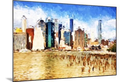 Manhattan Island II - In the Style of Oil Painting-Philippe Hugonnard-Mounted Giclee Print