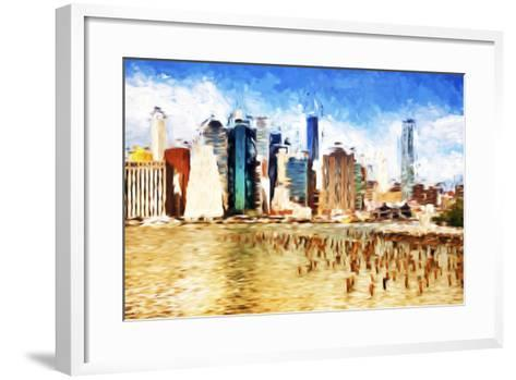 Manhattan Island II - In the Style of Oil Painting-Philippe Hugonnard-Framed Art Print
