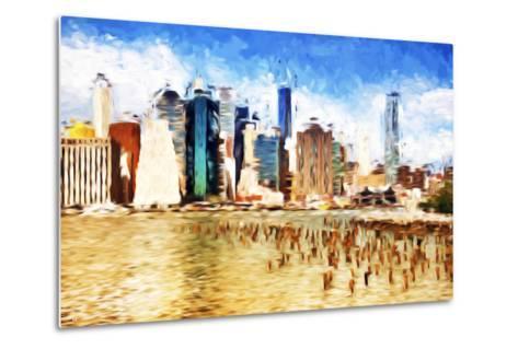 Manhattan Island II - In the Style of Oil Painting-Philippe Hugonnard-Metal Print