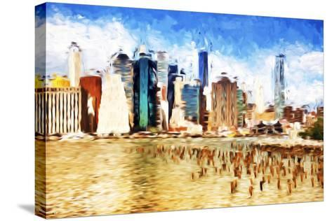 Manhattan Island II - In the Style of Oil Painting-Philippe Hugonnard-Stretched Canvas Print