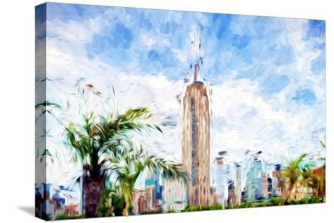The Empire State Building - In the Style of Oil Painting-Philippe Hugonnard-Stretched Canvas Print