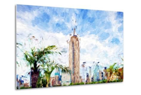 The Empire State Building - In the Style of Oil Painting-Philippe Hugonnard-Metal Print
