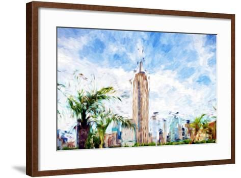 The Empire State Building - In the Style of Oil Painting-Philippe Hugonnard-Framed Art Print