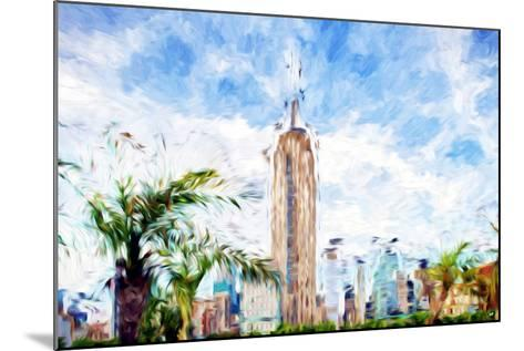 The Empire State Building - In the Style of Oil Painting-Philippe Hugonnard-Mounted Giclee Print