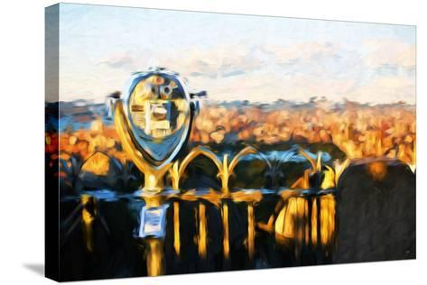 Telescope Sunset - In the Style of Oil Painting-Philippe Hugonnard-Stretched Canvas Print