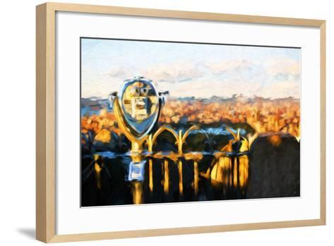 Telescope Sunset - In the Style of Oil Painting-Philippe Hugonnard-Framed Art Print