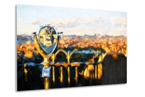 Telescope Sunset - In the Style of Oil Painting-Philippe Hugonnard-Metal Print