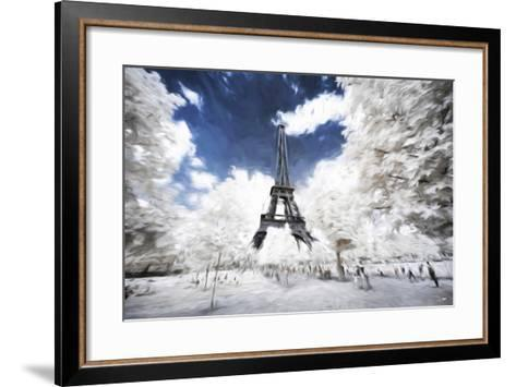 Sunday stroll in Paris - In the Style of Oil Painting-Philippe Hugonnard-Framed Art Print