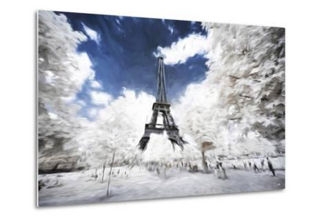 Sunday stroll in Paris - In the Style of Oil Painting-Philippe Hugonnard-Metal Print