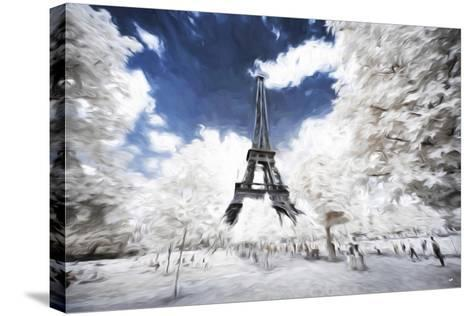Sunday stroll in Paris - In the Style of Oil Painting-Philippe Hugonnard-Stretched Canvas Print