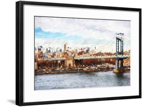 Big City - In the Style of Oil Painting-Philippe Hugonnard-Framed Art Print