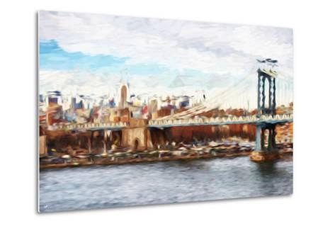 Big City - In the Style of Oil Painting-Philippe Hugonnard-Metal Print
