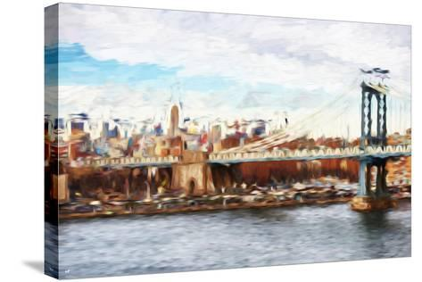 Big City - In the Style of Oil Painting-Philippe Hugonnard-Stretched Canvas Print