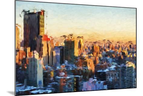 City Sunset II - In the Style of Oil Painting-Philippe Hugonnard-Mounted Giclee Print
