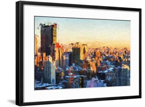 City Sunset II - In the Style of Oil Painting-Philippe Hugonnard-Framed Art Print